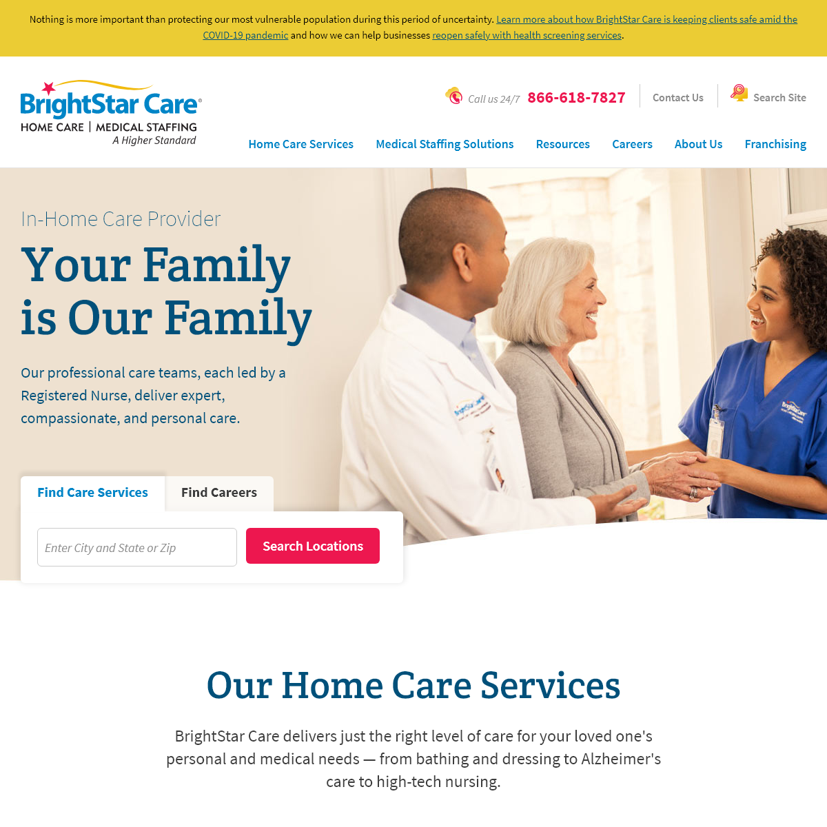 In-Home Care & Medical Staffing Agency - BrightStar Care