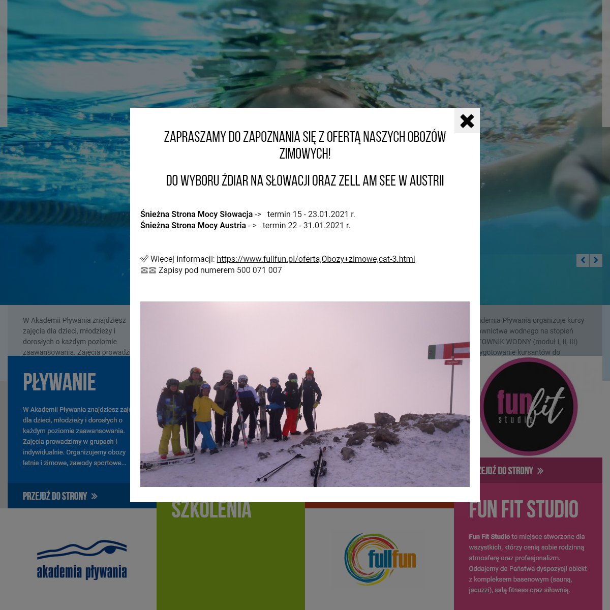 Nauka i doskonalenie pływania Szczecin, Goleniów - Akademia Pływania