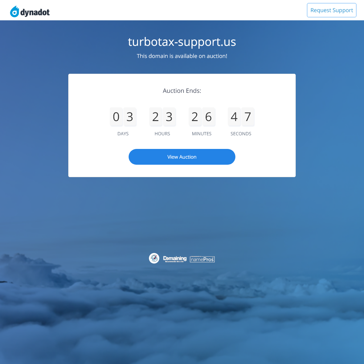 User Domain Auction-turbotax-support.us - Dynadot