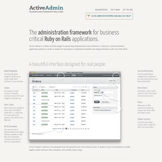 Active Admin - The administration framework for Ruby on Rails