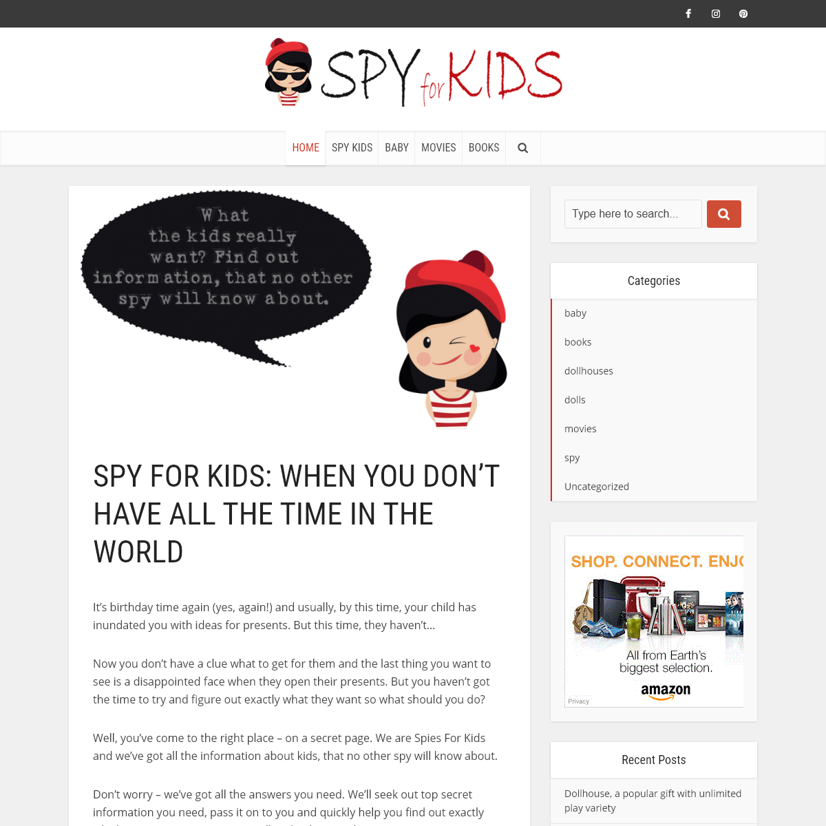 Spy For Kids- When You Don`t Have All The Time In The World - SPYforKIDS