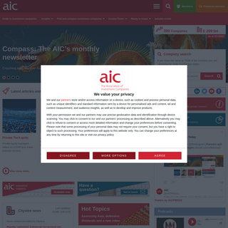 The AIC - Association of Investment Companies - Closed-End Funds