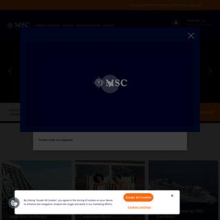 MSC Cruzeiros- Férias para o Caribe, Mediterrâneo, América do Sul e pelo Mundo