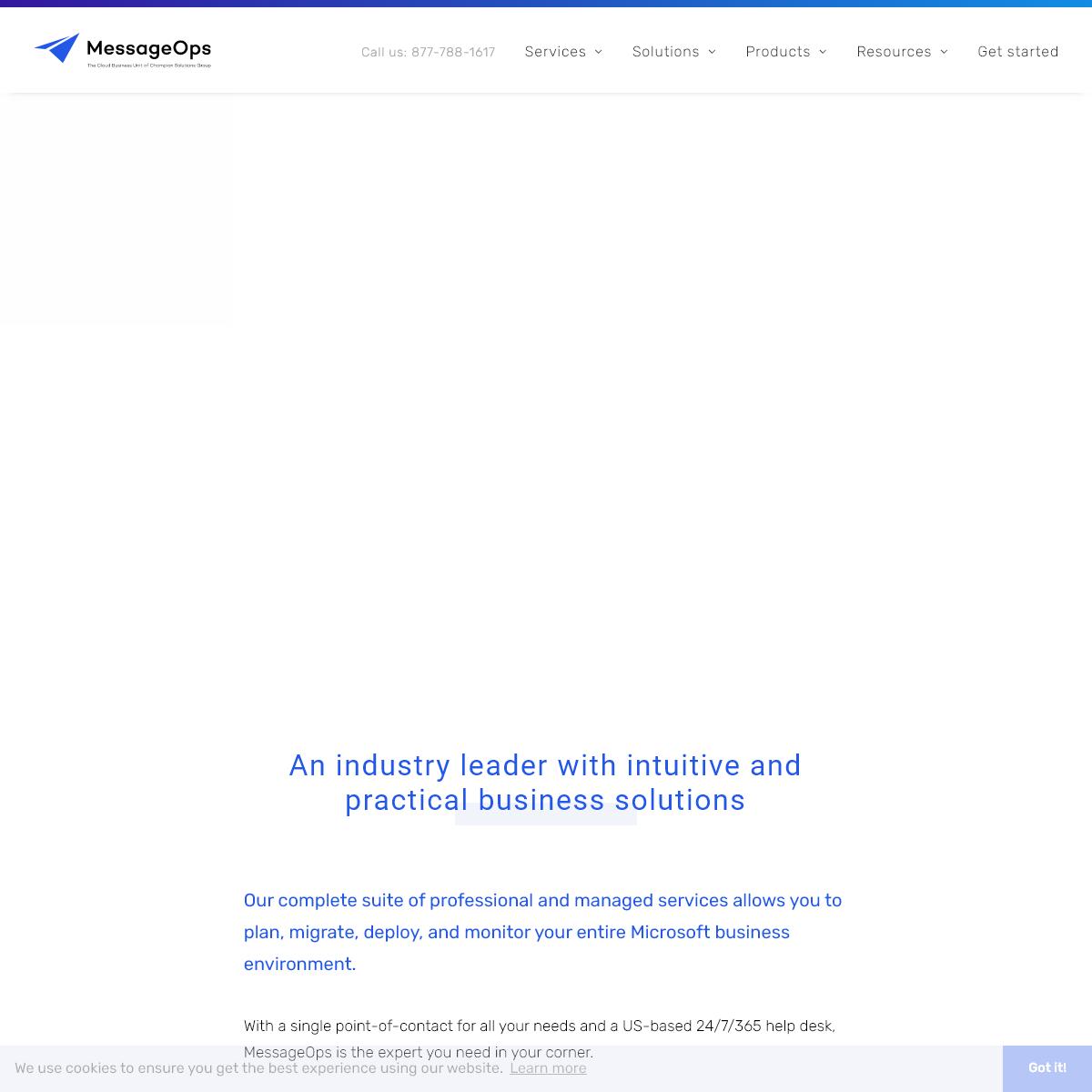 The World`s Premier Cloud Service Provider – MessageOps