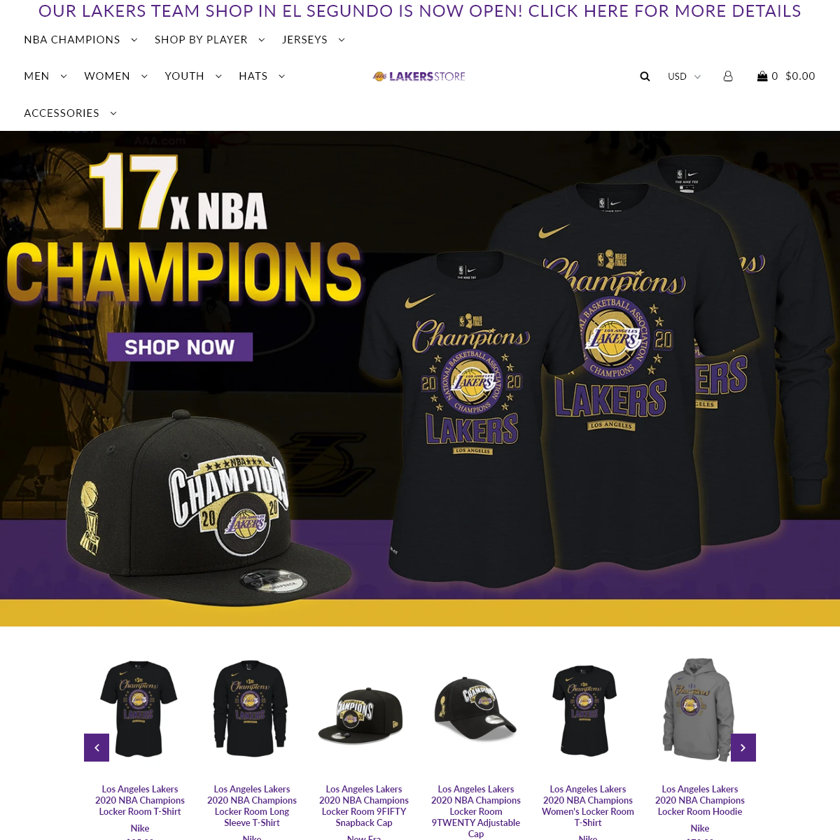 Lakers Store - Los Angeles Lakers Gear & Apparel