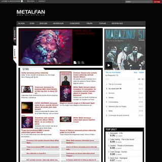 METALFAN.RO - Revista online dedicata rock-ului, actualizata zilnic