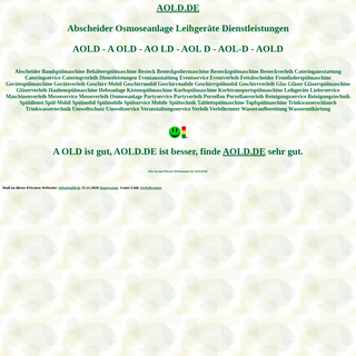 aold Abscheider Osmoseanlage Leihgeräte Dienstleistungen Spülmobil Verleih Geschirrmobil Mieten