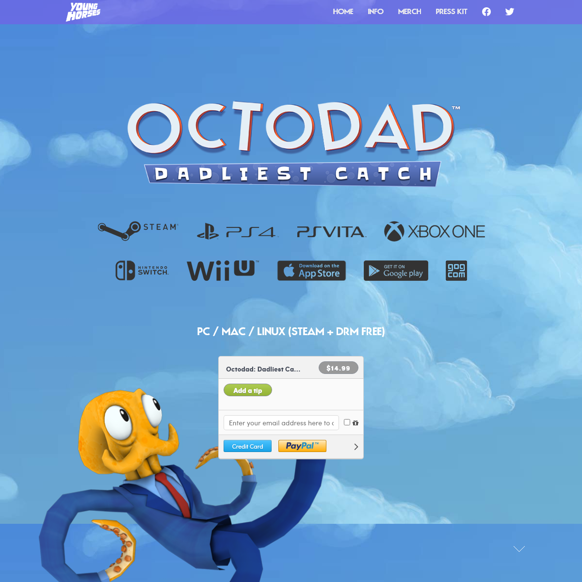 Octodad - Loving Father. Caring Husband. Secret Octopus.