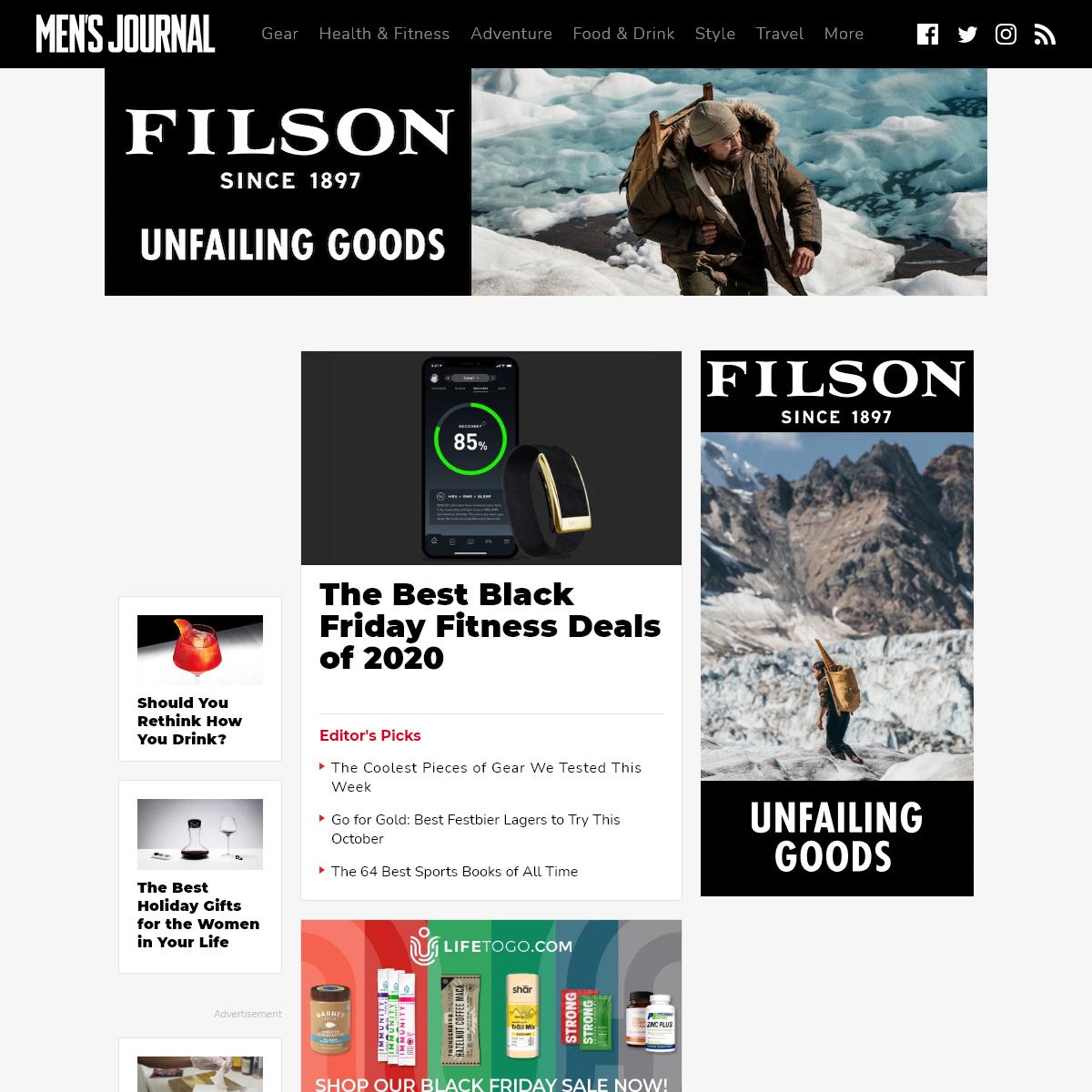 Men`s Journal- Health, Adventure, Gear, Style
