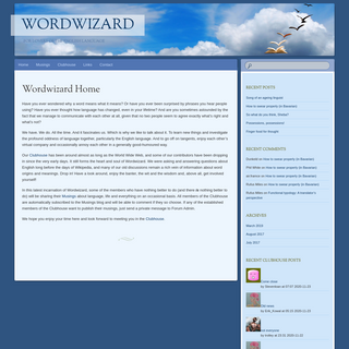 Wordwizard - For lovers of the English language