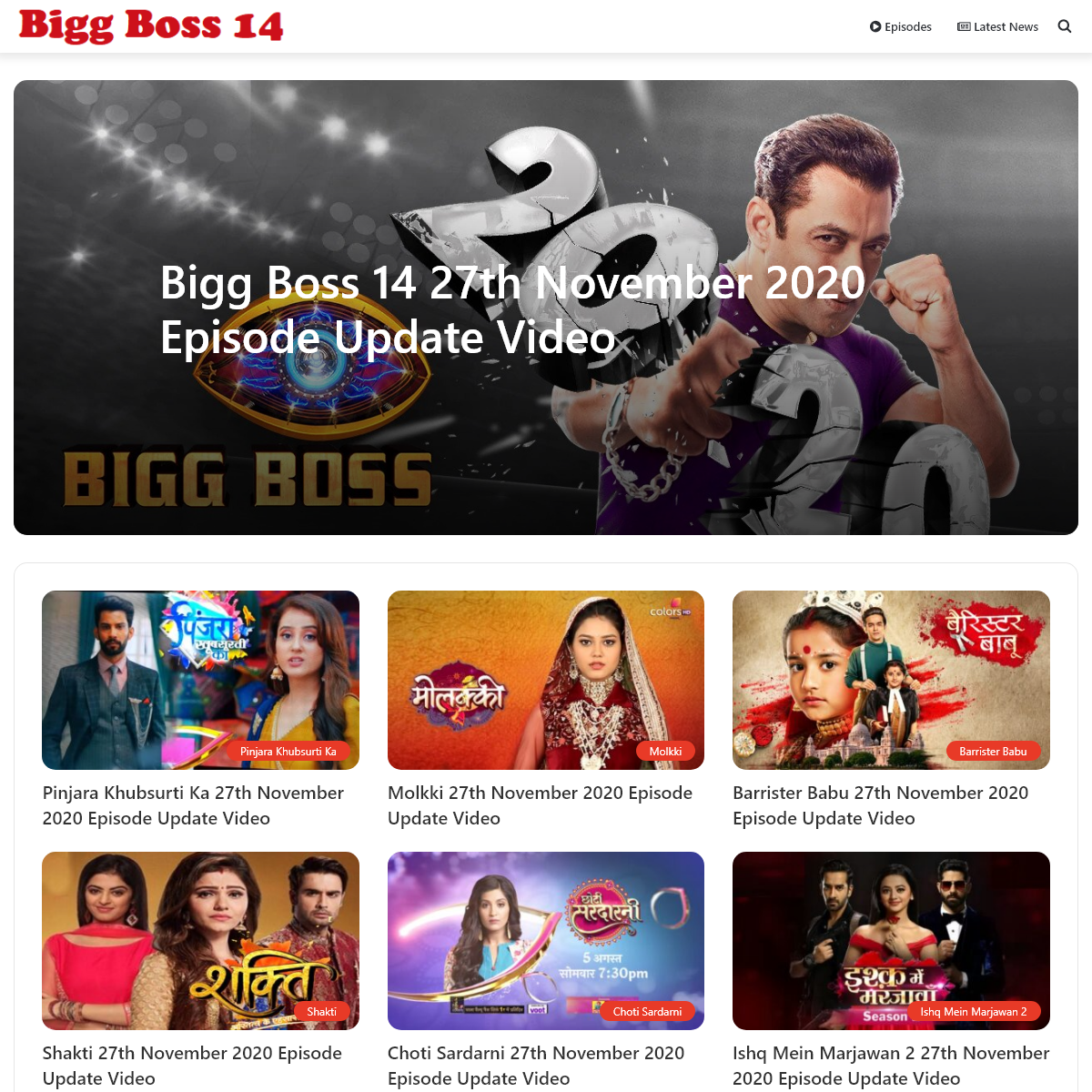 Watch Bigg Boss 14 All Episodes Online In High Quality