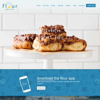 welcome to flour bakery + cafe
