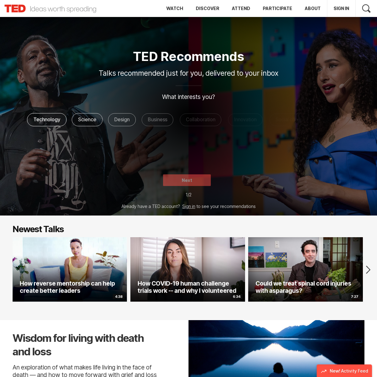 TED- Ideas worth spreading