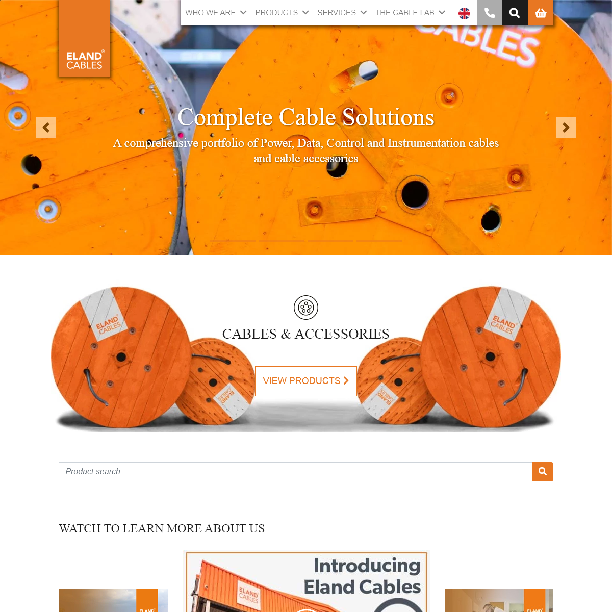 Global Cables and Cable Accessories Supplier - Eland Cables