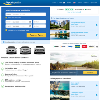 Airport Car Rental - compare over 2000 Airport Rental Deals