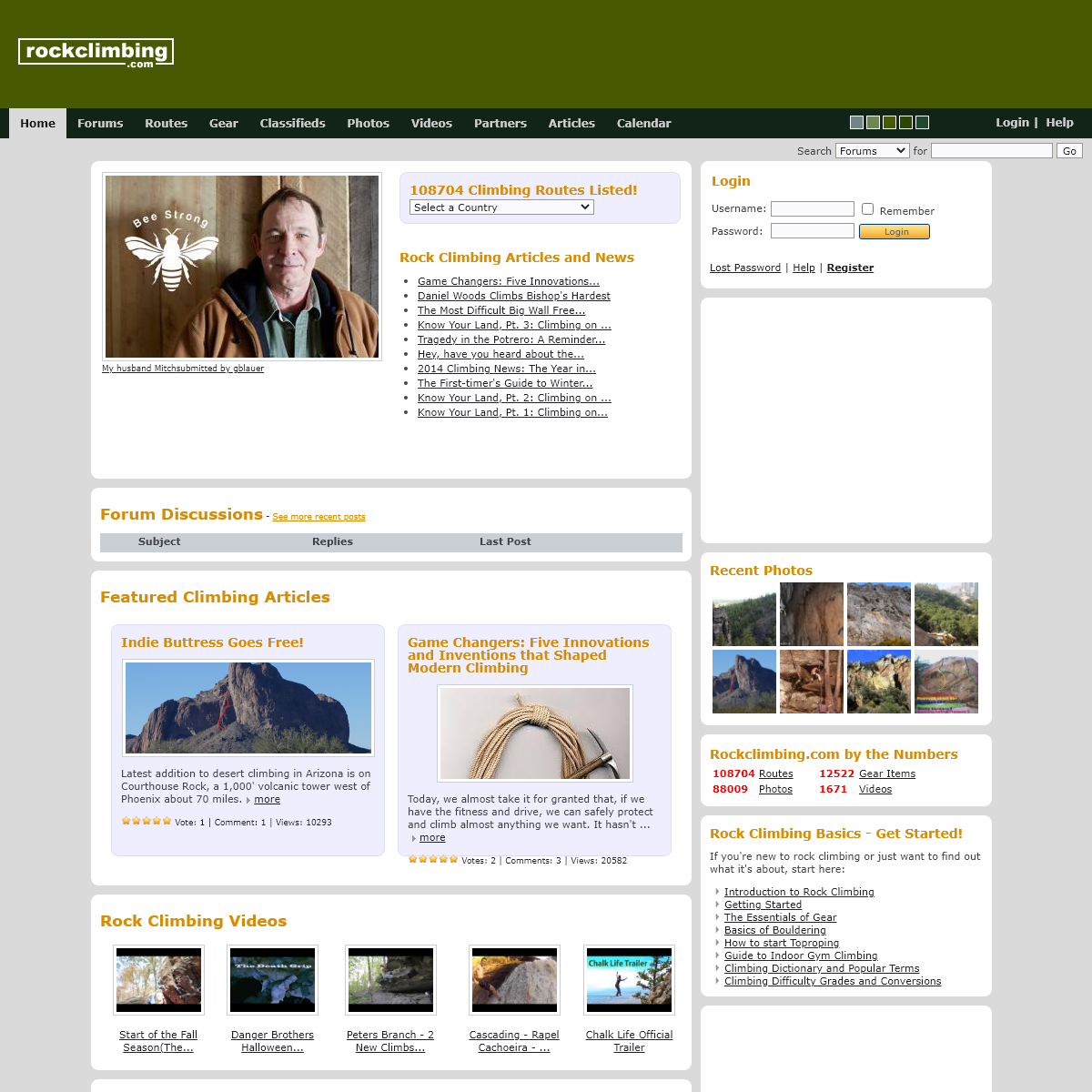 Rock Climbing Routes, Gear, Photos, Videos & Articles - Rockclimbing.com