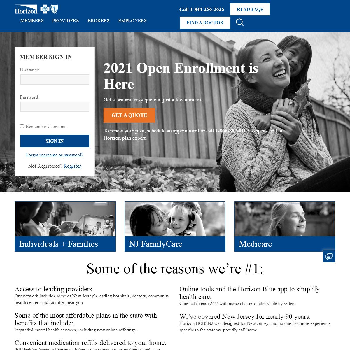 Horizon Blue Cross Blue Shield of New Jersey (Horizon BCBSNJ) - NJ Health Insurance & Healthcare Provider
