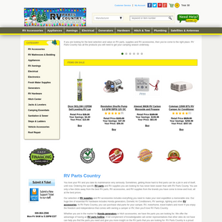 RV Parts and Supplies - Rv Accessories - RVPartsCountry.com