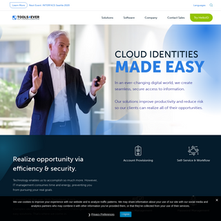 Tools4ever- No-Nonsense Identity Management - Tools4ever develops and provides standardized and affordable Identity Governance &