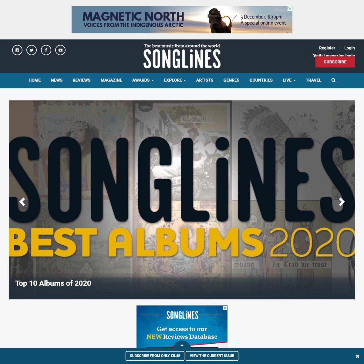 Songlines – The Best Music from Around the World - Songlines