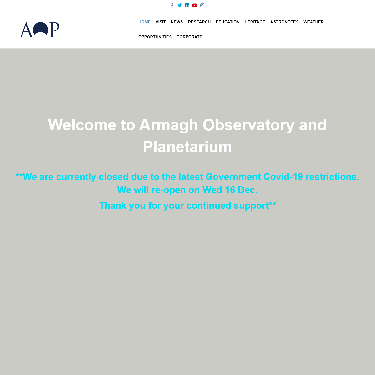 AOP – Armagh Observatory and Planetarium
