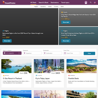 TravelPirates - best deals on vacation packages, flights & hotels