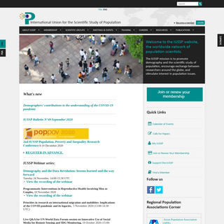What`s new - International Union for the Scientific Study of Population