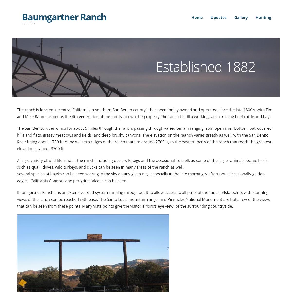 Baumgartner Ranch – Est 1882