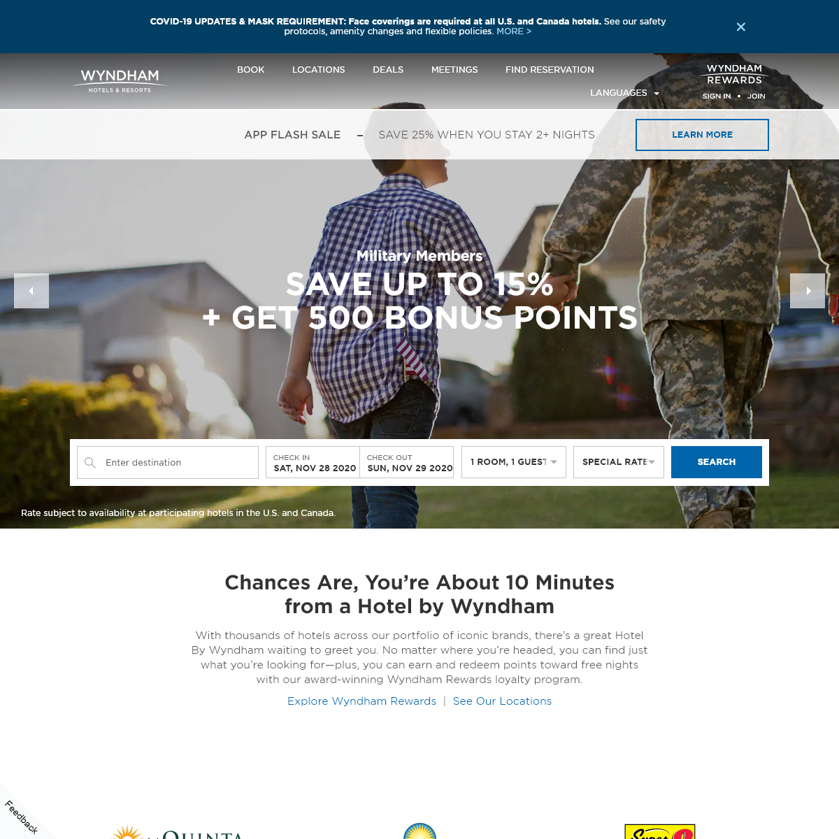 Wyndham Hotels & Resorts - Search for Hotel Room Rates, Deals, and Getaways