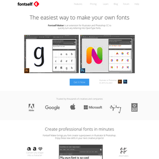 Fontself - The Easiest Font Maker For All Creatives