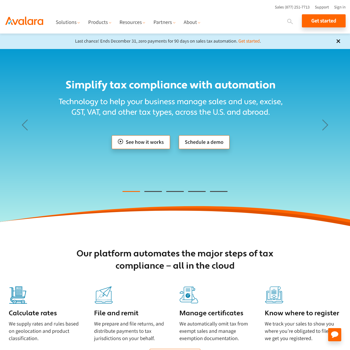 Automated Tax Compliance Software - Avalara