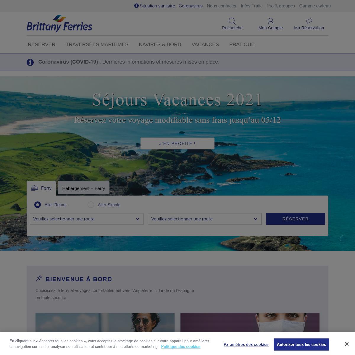 Ferries vers l'Angleterre, l'Irlande et l'Espagne – Séjours en Grande-Bretagne, Irlande, Espagne et Portugal - Brittany