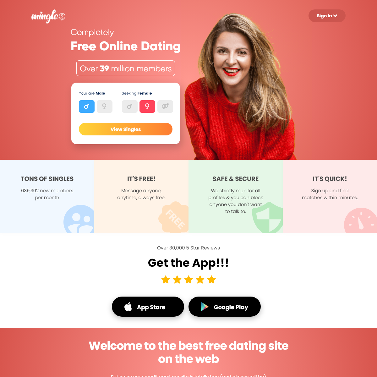 Free Online Dating Site & Chat App For Singles - Mingle2