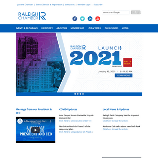 Raleigh Chamber of Commerce - Raleigh, NC - Home - Raleigh Chamber of Commerce - Raleigh, NC