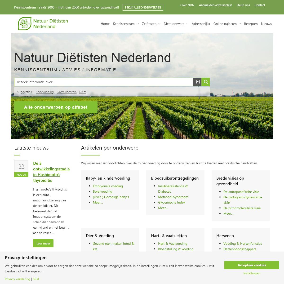 Natuurdietisten.nl - Ruim 2000 artikelen over gezondheid!