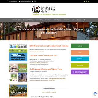 WELCOME TO THE NORTHWEST ECOBUILDING GUILD - Northwest Ecobuilding Guild