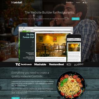 Let`s Eat - The Restaurant Website Builder