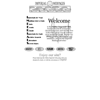 Online Imperial Club (OIC) for Imperial, Chrysler Imperial, and Chrysler New Yorker Brougham Enthusiasts