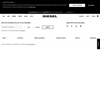 Mens and Womens Diesel Black Gold Collection - Diesel.com US