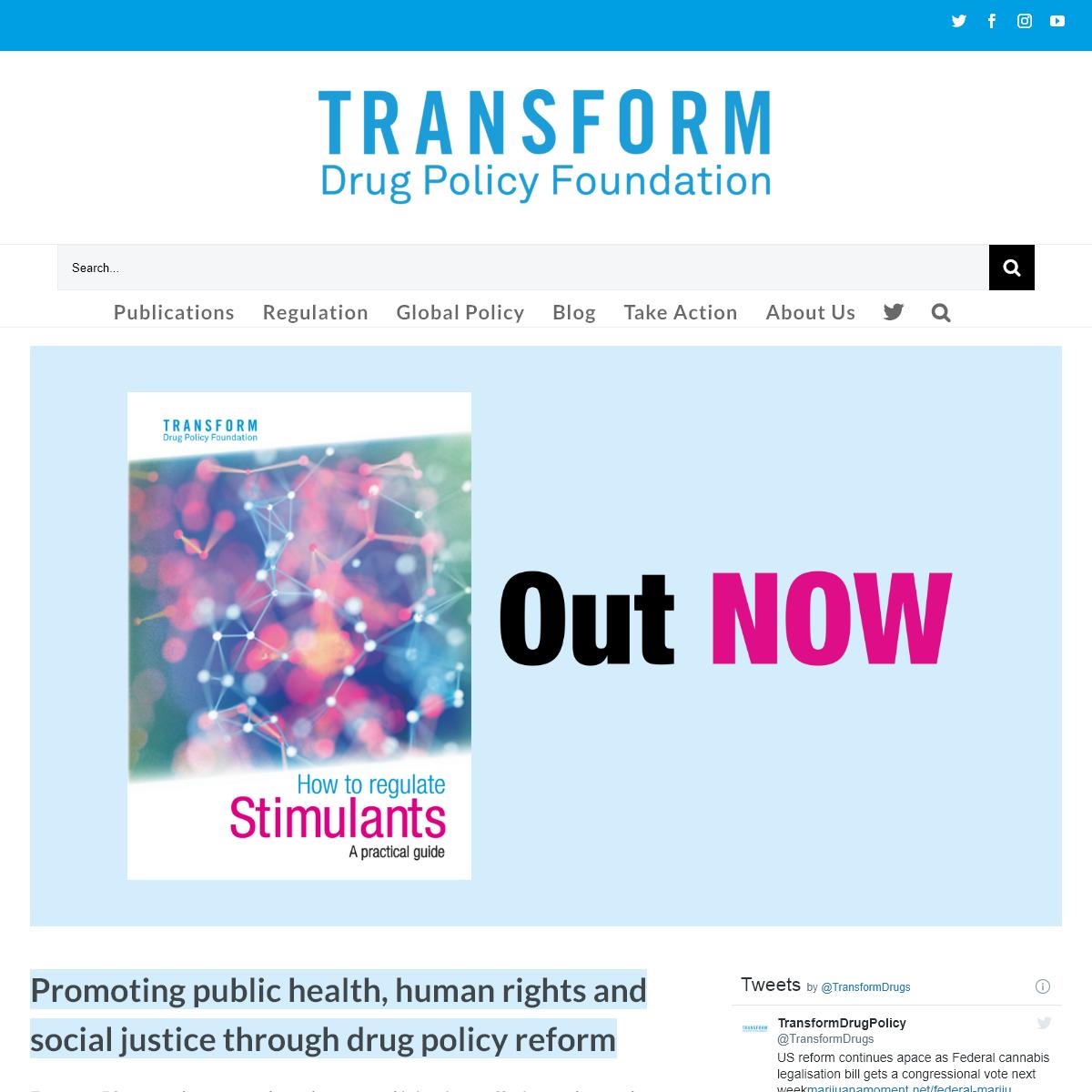 Home - Transform Drug Policy Foundation