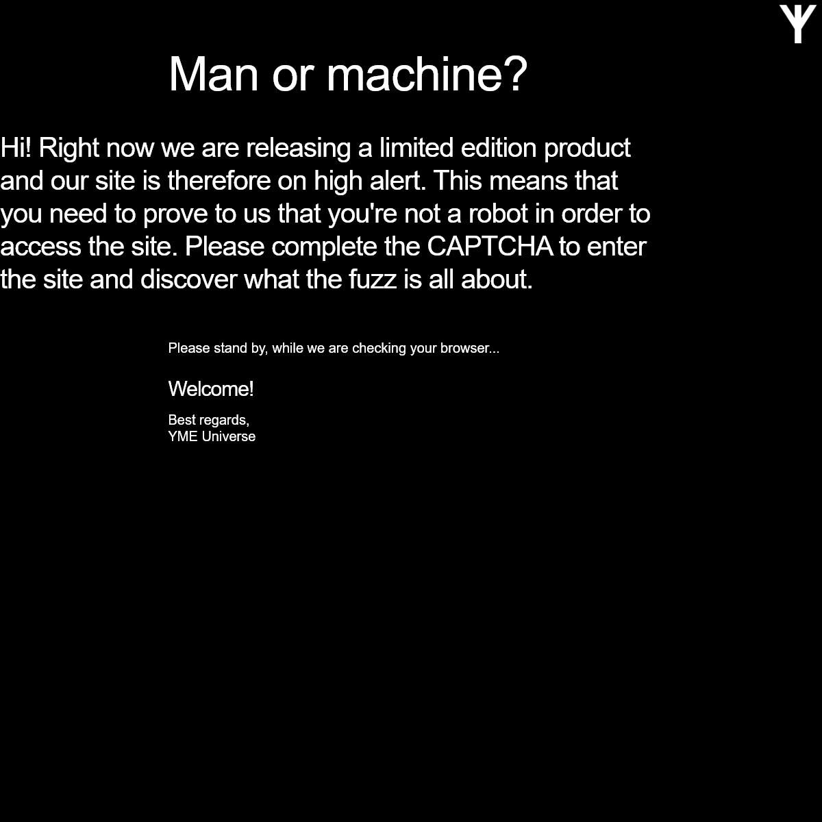 YME Universe - Man or machine-