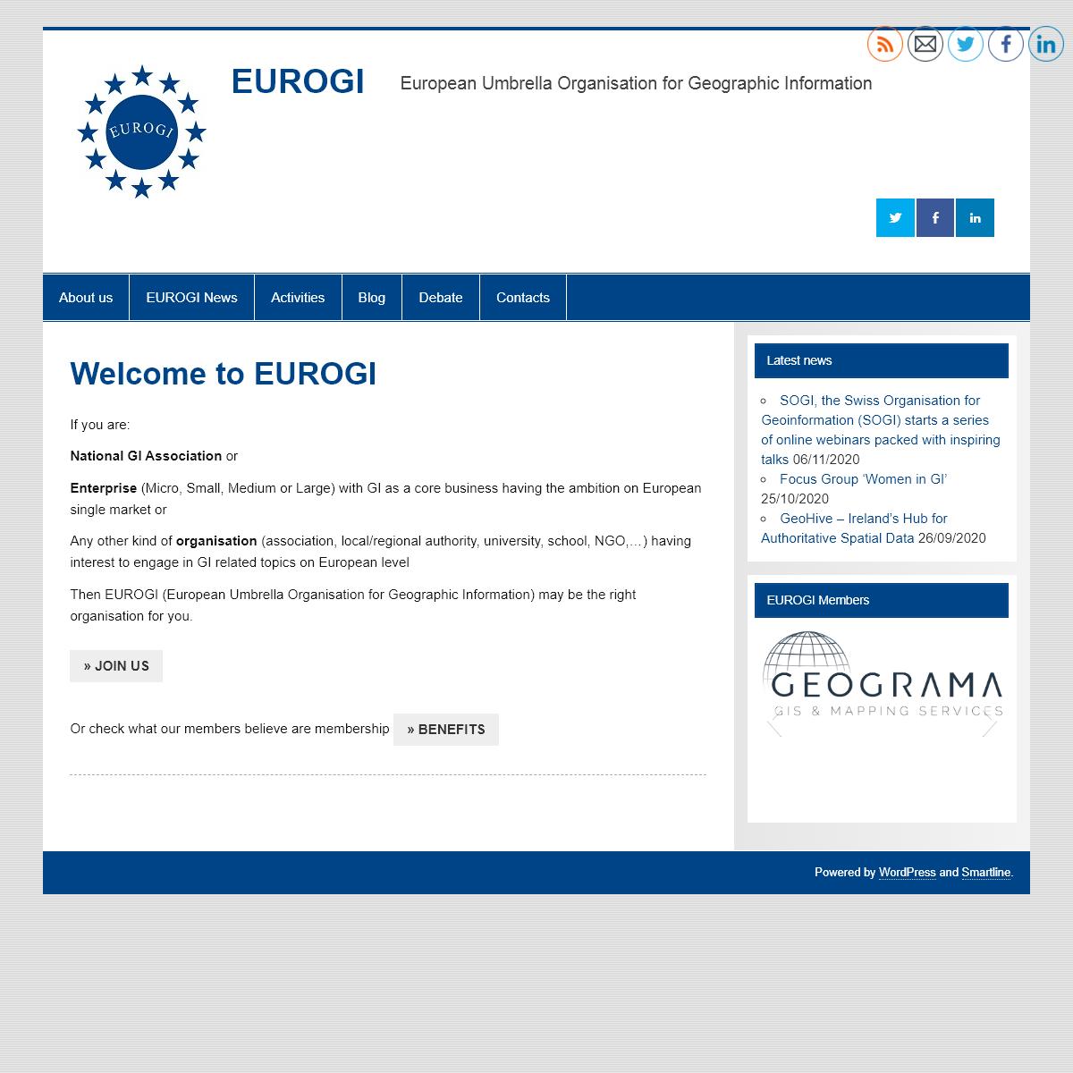 EUROGI – European Umbrella Organisation for Geographic Information