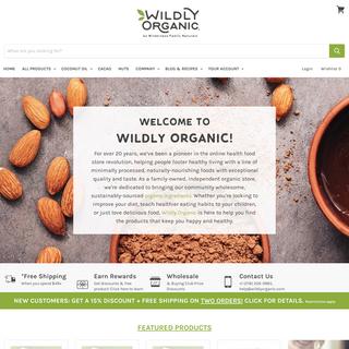 Organic Online Health Food Store - Shop Wildly Organic
