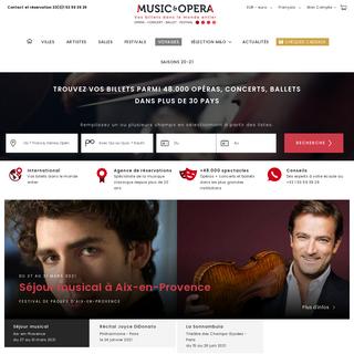 Music & Opera- Billets et programmes - concert, ballet, festival
