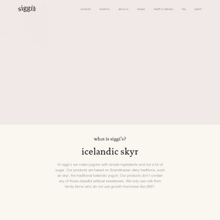 siggi's Icelandic yogurt - Home