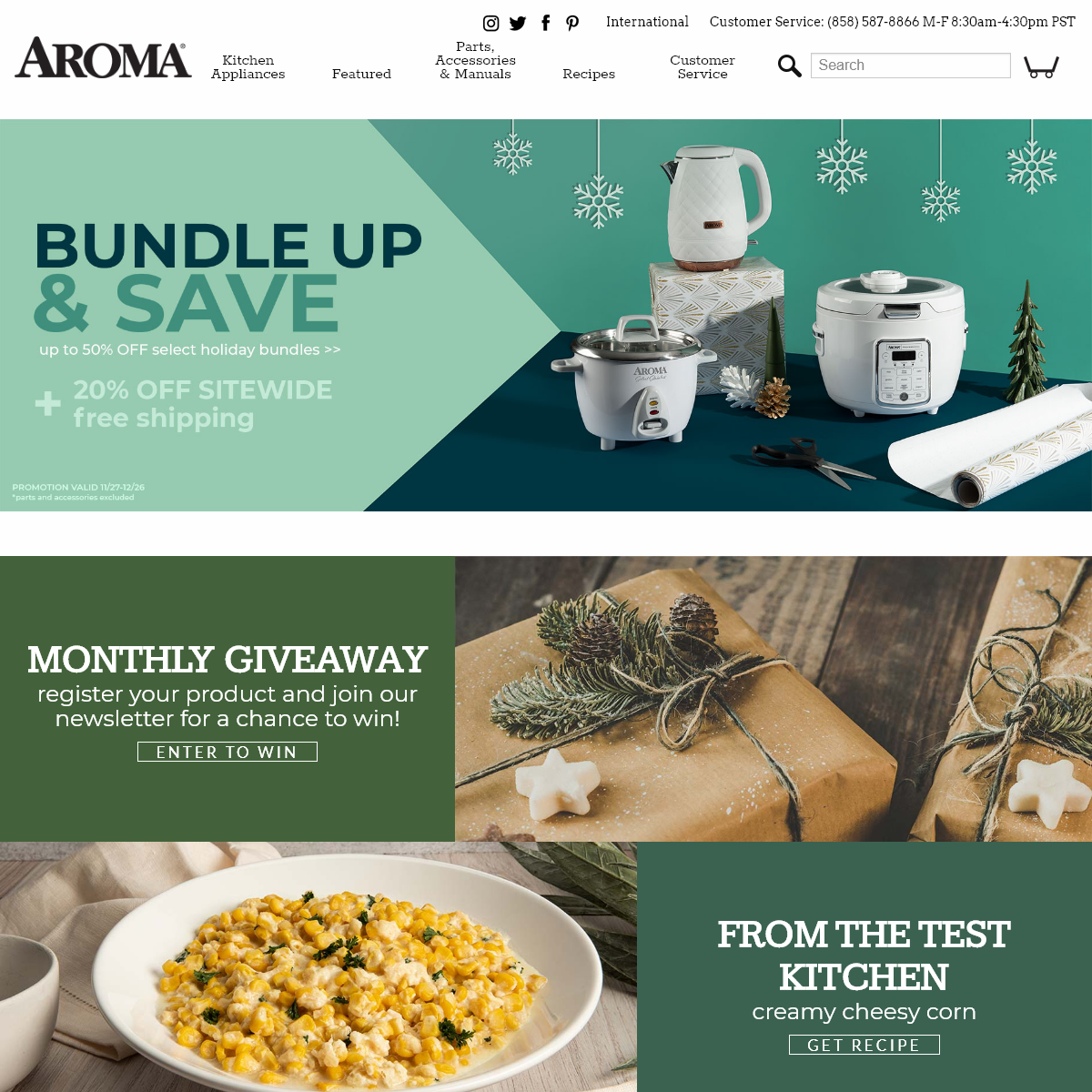Aroma Housewares Small Kitchen Appliances, Recipes, Parts & Manuals