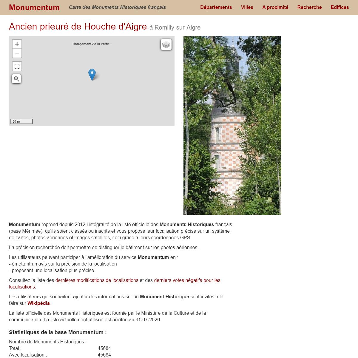 Monumentum - Carte des Monuments Historiques