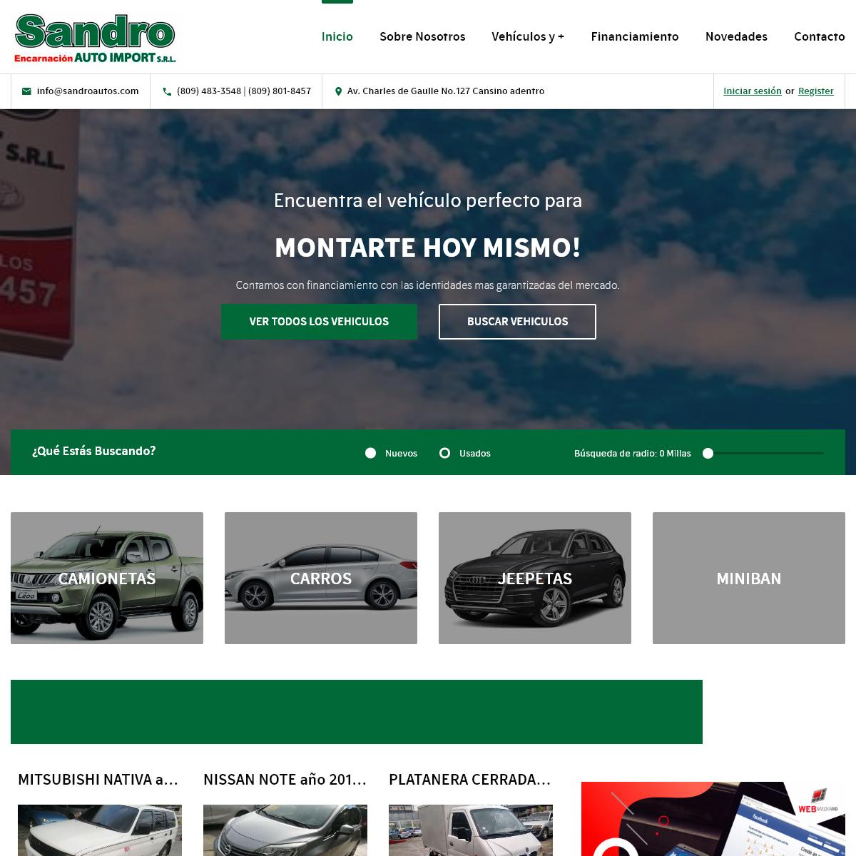 SandroAutos.com – Ventas de vehículos usados en perfectas condiciones