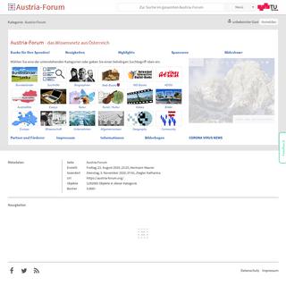 Austria-Forum - das Wissensnetz aus Österreich