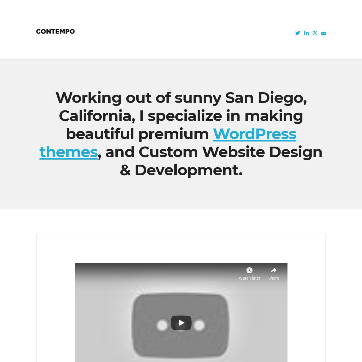 Contempo - WordPress Design & Development by Chris Robinson